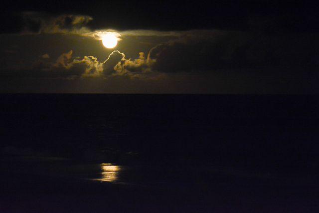 Super Moon over the Atlantic